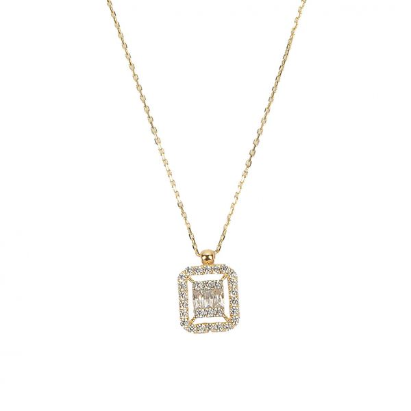 Baget Taşlı Altın Kolye 14KLY2035