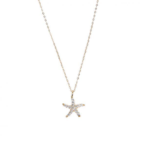 Deniz Yıldızı Altın Kolye 8KLY735