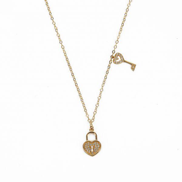 Kalp Anahtarı Altın Kolye 14KLY1646