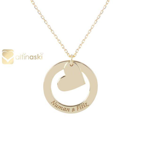 Kalpli İsimli Altın Kolye FYA175
