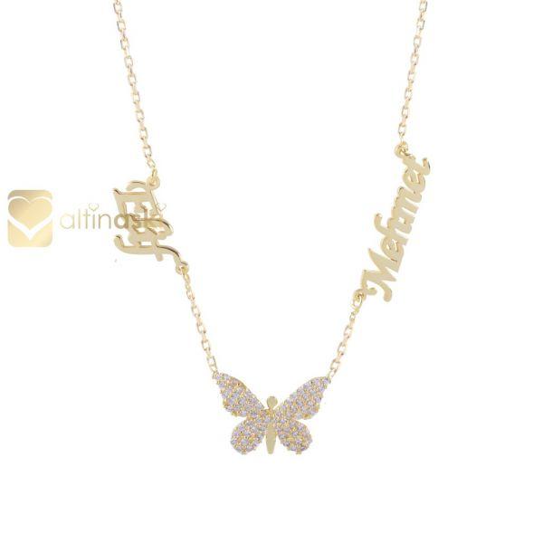 Kelebek İsimli Altın Kolye FYA193